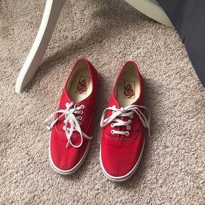 Red vans 🌻